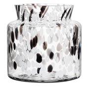 Kosta Boda - Bjork Vase White/Black 20cm Medium