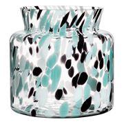 Kosta Boda - Gran Vase Green/Black 20cm Medium