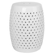 Avalon - White Shelly Decorator Stool