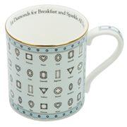 Halcyon Days - Eat Diamonds for Breakfast Mug