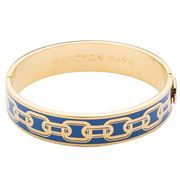 Halcyon Days - Chain Bluebell & Gold Bangle