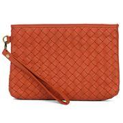 Condura - Leather Wristlet Purse Orange