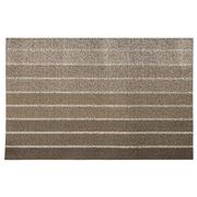Chilewich - Block Stripe Indoor/Outdoor Mat Taupe 46x71cm