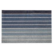 Chilewich - Block Stripe Indoor/Outdoor Mat Denim 46x71cm