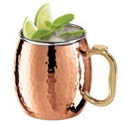 Oggi - Moscow Mule Mug Hammered Copper Plate