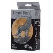 Games - 3D Crystal Jigsaw Puzzle Black Wolf