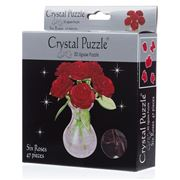 Games - 3D Crystal Jigsaw Puzzle Red 6 Roses