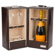 Renzo - Hemingway Crocodile Champagne Set Brown