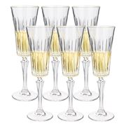 RCR Crystal - Timeless Champagne Flute Set 6pce 210ml