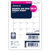 Filofax - Pocket Month On Two Pages  2018 Refill