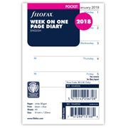 Filofax - Pocket Week On One Page 2018 Refill