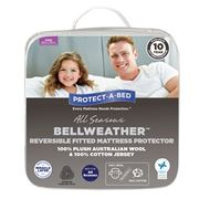 Protect-A-Bed - Reversible Wool/Cotton Jersey Mat Prot Queen