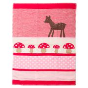 David Fussenegger - Red Bambi Lena Bassinet Blanket