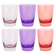 Ocean - Tiara Pinks Double Old Fashioned Tumbler Set 6pce