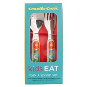 Crocodile Creek - Utensil Set 2pce Kid's World