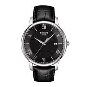 Tissot - Tradition Black Watch w/Black Leather Strap