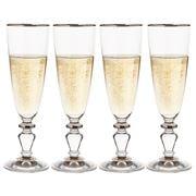 Francalia - Elysée Platinum Rim Champagne Set 4pce 170ml