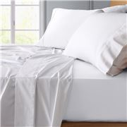 Private Collection - Bamboo/Cotton White Sheet Set Double