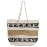 Condura - Jute Printed Natural Tote Bag