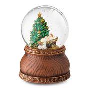 Roman Christmas - Manger Scene Musical Globe