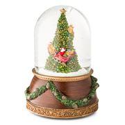 Roman Christmas - Santa & Tree Musical Globe