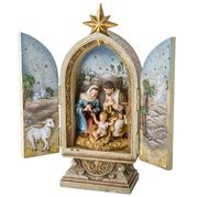 Roman Christmas - Triptych Nativity Scene w/Lamb