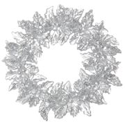 Raz - First Snow Glittered Holly Wreath Ornament