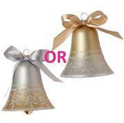 Raz - Golden Botanical Bell Ornament