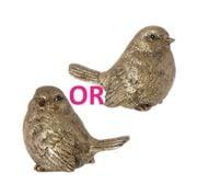 Raz - Golden Botanical Bird Ornament