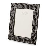 Villari - Black Tie Medium Photo Frame Shiny Black