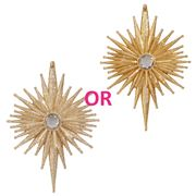 Raz - Glad Tidings Glittered Starburst Ornament