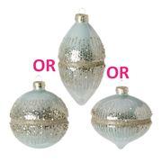 Raz - Deck The Shore Glitter Ornament