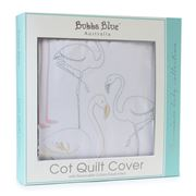 Bubba Blue - Flamingo Cot Quilt Cover