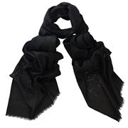 DLUX - Valentine Black Embroidered Wrap