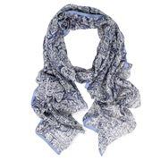 DLUX - Carousel Wool/Silk Denim Print Scarf