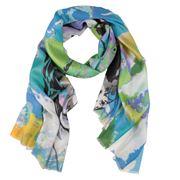 DLUX - Giselle Digi Print Turquoise Silk Scarf