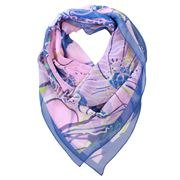 DLUX - Miranda Silk Digi Print Blue Scarf