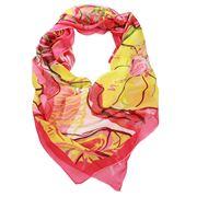 DLUX - Miranda Silk Digi Print Pink Scarf