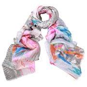 DLUX - Carrie Digi Print Cotton/Silk Pink Scarf