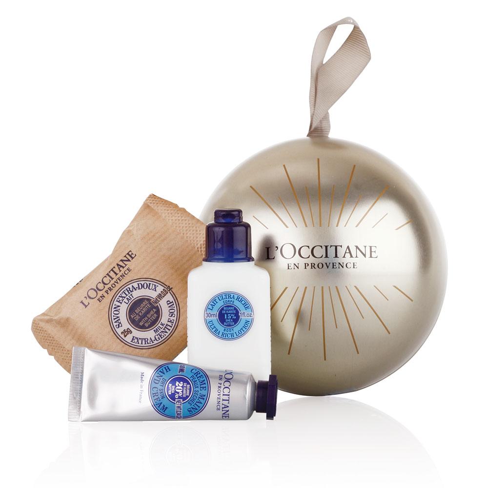 New l occitane shea butter christmas ball ornament gift