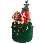 Raz - Santa Supply Co Green Toy Bag