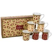 Queens - Ceylon Royal Mug Set 6pce