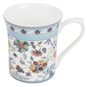 Queens - Antique Blue Floral Mug