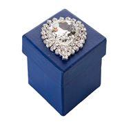 Boz Christmas - Navy Petite Diamond Bling Box with Choc