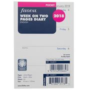 Filofax - Pocket Week On Two Pages 2018 Diary Refill