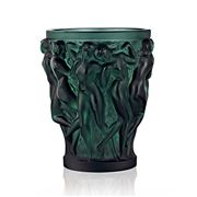 Lalique - Bacchantes Small Deep Green Vase