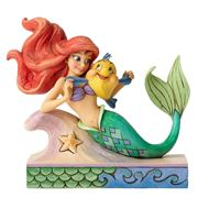 Disney - Ariel With Flounder Figurine
