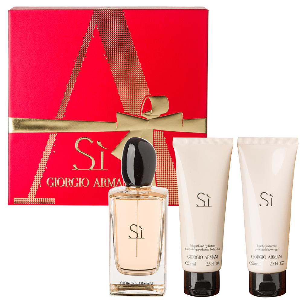 Giorgio Armani Si Eau De Parfum 100ml Gift Set 3pce Peters Of