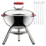 Bodum - Fyrkat Picnic Charcoal Grill Shiny with Skewers