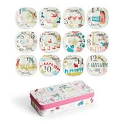 Rosanna - 12 Days of Christmas Plates Set 12pce